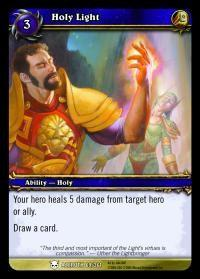 warcraft tcg heroes of azeroth holy light