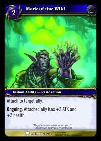 warcraft tcg heroes of azeroth mark of the wild