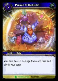 warcraft tcg heroes of azeroth prayer of healing