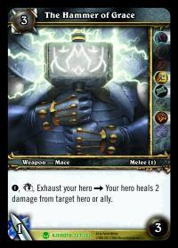 warcraft tcg heroes of azeroth the hammer of grace