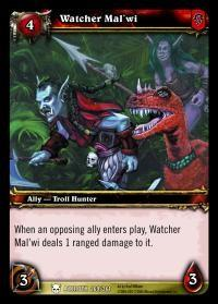warcraft tcg heroes of azeroth watcher mal wi