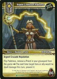 warcraft tcg icecrown argent confessor paletress
