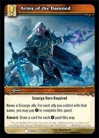 warcraft tcg icecrown army of the damned
