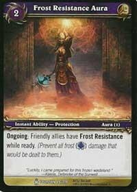 warcraft tcg icecrown frost resistance aura