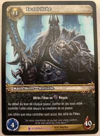 warcraft tcg icecrown the lich king french