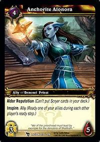 warcraft tcg march of legion anchorite alonora
