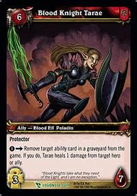 warcraft tcg march of legion blood knight tarae
