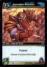 warcraft tcg march of legion caretaker devonar