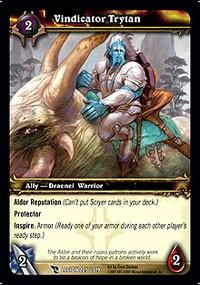 warcraft tcg march of legion vindicator trytan