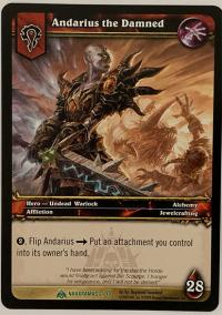 warcraft tcg naxxramas andarius the damned naxxramas version