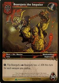 warcraft tcg naxxramas boarguts the impaler naxxramas version
