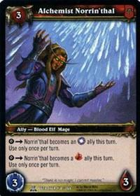 warcraft tcg servants of betrayer alchemist norrin thal