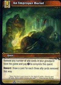 warcraft tcg servants of betrayer an improper burial