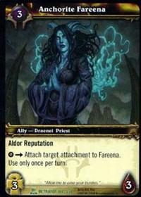 warcraft tcg servants of betrayer anchorite fareena