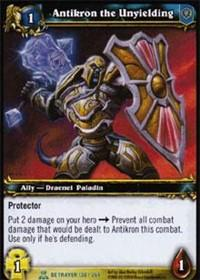 warcraft tcg servants of betrayer antikron the unyielding