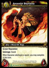 warcraft tcg servants of betrayer arcanist dayvana