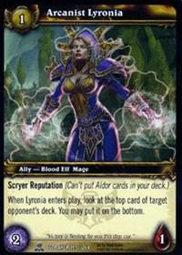 warcraft tcg servants of betrayer arcanist lyronia