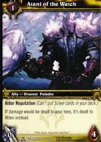 warcraft tcg servants of betrayer atani of the watch