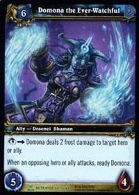 warcraft tcg servants of betrayer domona the ever watchful
