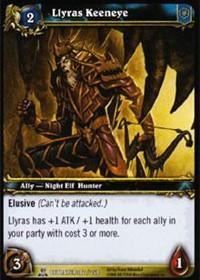 warcraft tcg servants of betrayer llyras keeneye