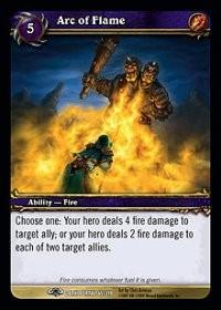 warcraft tcg the dark portal arc of flame
