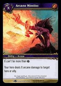 warcraft tcg the dark portal arcane missiles