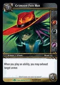 warcraft tcg the dark portal crimson felt hat