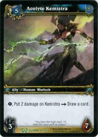 warcraft tcg the hunt for illidan acolyte kemistra