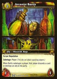 warcraft tcg the hunt for illidan arcanist bartis