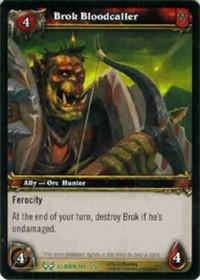warcraft tcg the hunt for illidan brok bloodcaller