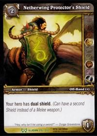 warcraft tcg the hunt for illidan netherwing protector s shield