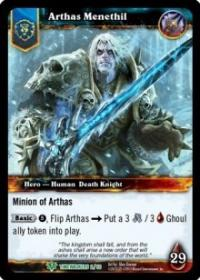 warcraft tcg war of the ancients arthas menethil alternate