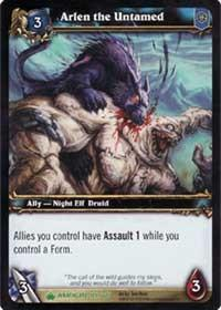 warcraft tcg wrathgate arlen the untamed