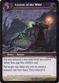 warcraft tcg wrathgate lesson of the wild