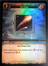 wow minis promotional flame throwing foil promo