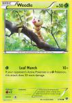pokemon xy base set weedle 3 146