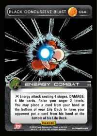 dragonball z base set black concussive blast foil