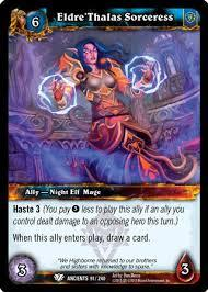 warcraft tcg foil and promo cards eldre thalas sorceress foil