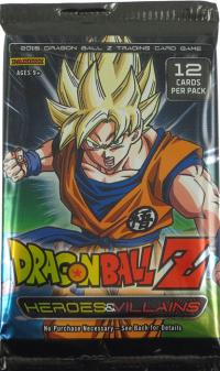 dragonball z dbz sealed product dbz panini heroes and villains booster pack