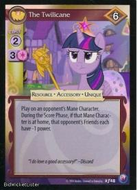 my little pony canterlot nights the twilicane foil